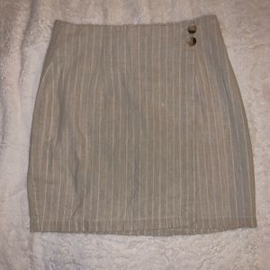 VTG State Of The Art Brand Linen Blend Wrap Skirt